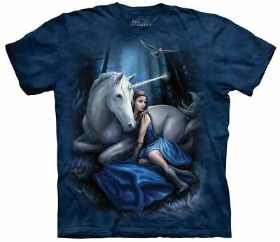 New Blue Moon Unicorn T-Shirt in Adults Sizes - Fantasy Art by Anne Stokes