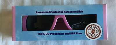 NWT Babiators Aviators Sunglasses Princess Pink Junior Ages 0-2 Years