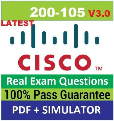 CISCO icnd2 200-105  v3.0 exams questions pdf and simulator