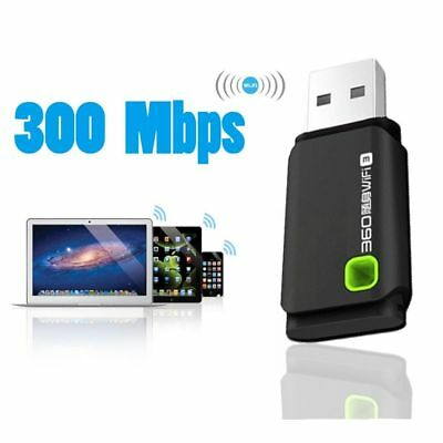 Mini USB 300MBPS WIFI Wireless Adapters PC Laptop Dongle Windows 10 8 7 XP New