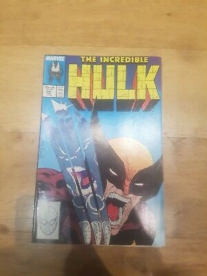 Incredible hulk 340  CLASSIC HULK V WOLVERINE ! MCFARLANE RED HOT KEY!