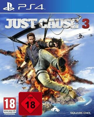 PS4 JUST CAUSE 3 100 % Uncut NUOVO E conf. orig. Playstation 4 spese