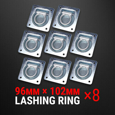 8 Pcs Lashing Ring Zinc Plated Recessed Tie Down Point Anchor Trailer UTE