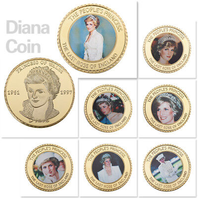 WR Englands Rose Princess Diana Gold Coin 20th Anniversary Memory Collect
