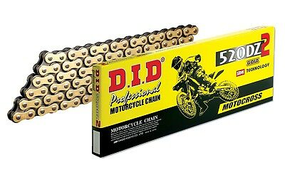 DID 520DZ-120 Gold Chain with Connecting Link (120 Links) YAMAHA/YZ/YZF/CRF/KXFX