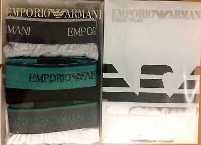 Emporio Armani Jeans Boxer Trunk Shorts Underwear 3 Pack S M L Xl
