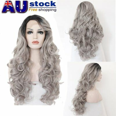 Long Big Natural Wave Heat Resistant Synthetic Lace High Temperature Front Wigs