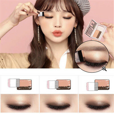 INS Double Color Gradual Change Eye Shadow Band Brush Beginners Make Up