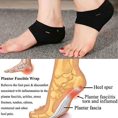 Plantar Fasciitis Protector Foot Arch Heel Pain Relief Sleeve Cushion Hot