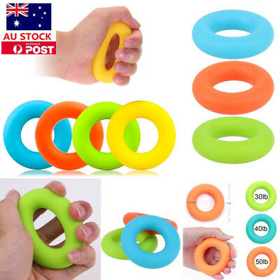 1/2/3/6PCS Hand Grip Ring Silicone Finger Arm Power Training Strength Exerciser