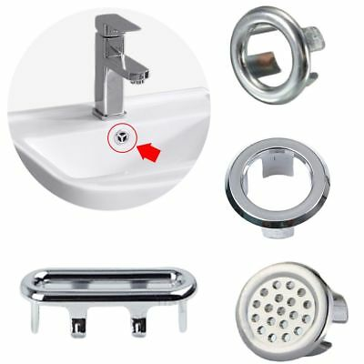 3PCS Overflow Cover Sink Hole Cap Basin Insert Replacement Bathroom Trim  Ring