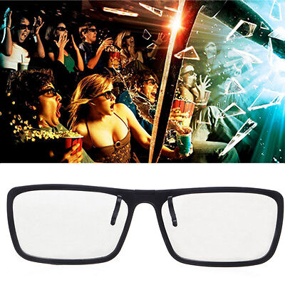 Clip-On Type 3D Glasses Circular Passive Polarized 2Pcs For TV Real 3D Cinema