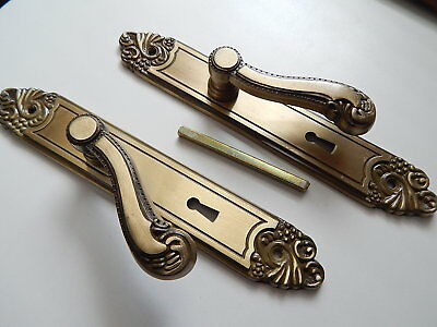 Vintage French, 1 pair of door handles French ,door lock ,furniture