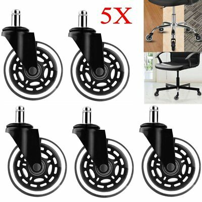 3inch Heavy Duty Chair Swivel Rubber Caster Wheels Office Furniture Chair Wheels