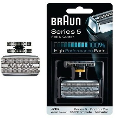 Braun 51S Replacement Foil & Cutter - 360 Series 5 and 8000 Series Activator