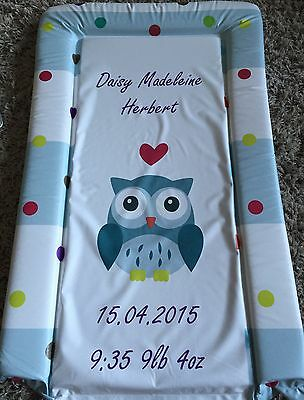 Personalised - Baby Nappy Changing Mat - Birth Gift - Name Printed - Owl Design