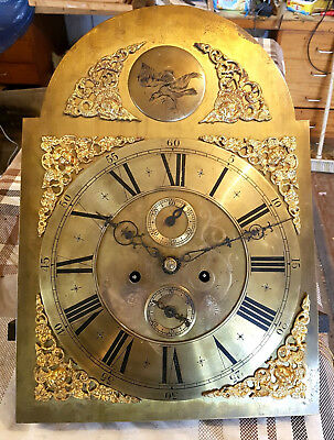 Longcase Grandfather clock 8 day dial and movement - all complete