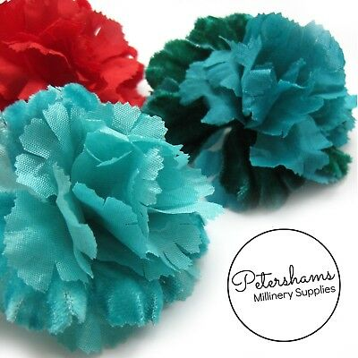 Vintage 1960's-80's Carnation Velvet Flower Millinery Mount - 4 Colours!