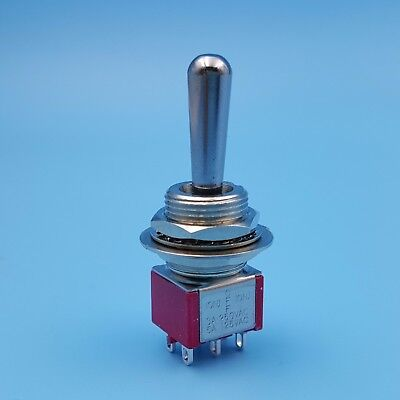 SH T8012A-Z1 Momentary (ON)-OFF-(ON) 6Pin Large Handle DPDT Mini Toggle Switch