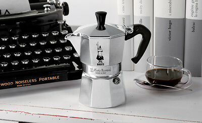 Caffettiera Moka Bialetti Restyling Caffe' 1-2-3-6-9-12 Tazze Made In Italy