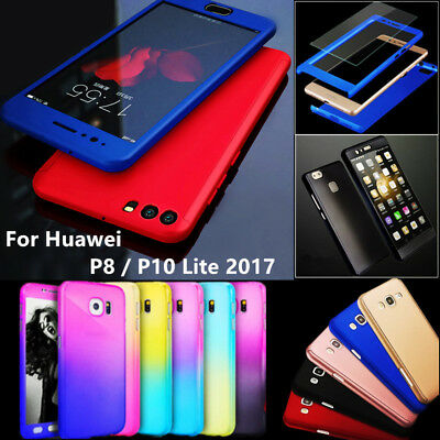 Hybrid 360 Shockproof Case Cover + Glass For Huawei Mate 20 P20 Pro P10 P8 Lite