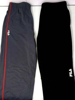 5d327eda0163 Fila Warm Up Pants Lot of 2 Men Medium Gray Black Fitness Athletic Running  New