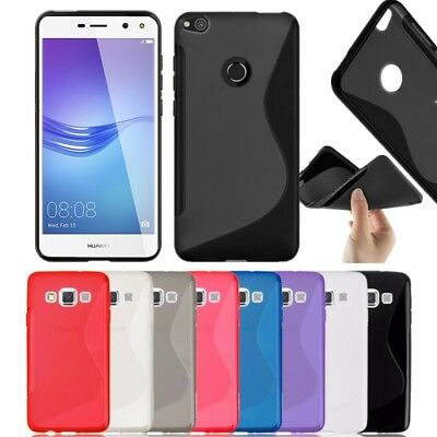 S-Line Silicon Gel Case For Huawei P30 Mate 20 P20 Pro P8 P10 Lite Y6 Y7 P Smart