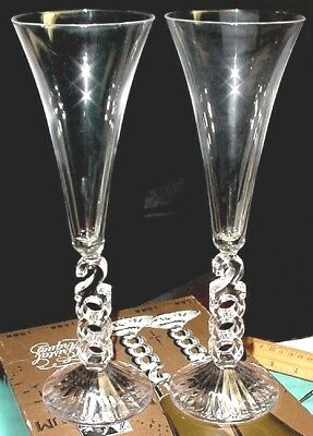 SET OF 2 glasses ~ Cristal d Arques Year 2000 Millennium Champagne Flutes France