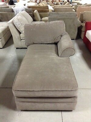 Pottery Barn Pearce Couch Sofa Sectional Pewter Velvet Right Arm Chaise
