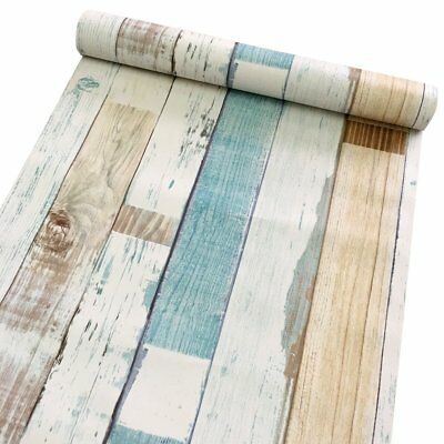 17.7x9.8 Wood Grain Wood Peel and Stick Wallpaper Self Adhesive Vintage Stripes