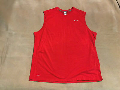 Men's Nike Vest Top Size XXL Red Great Condition, Worn Once Only.