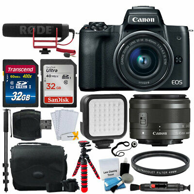 Canon EOS M50 Video Creator Kit with EF-M15-45mm Lens + 64GB Card + LED Light