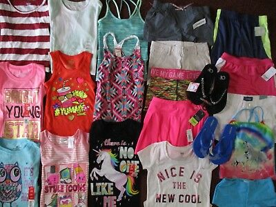 NWT'S Girls Size 6 6X SPRING & SUMMER Name Brand Lot Clothes & Outfits  NEW/TAGS