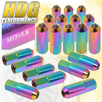 For Honda Acura 60Mm 20 Pcs M12 X 1.50 Neo Chrome Extended Open End Lug Nuts Rim