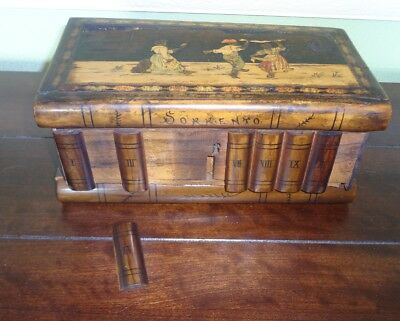 Vintage Sorrento Wood Puzzle Box w/ Inlaid Lid AS-IS