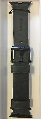 Nomad  Leather Watch Strap for Apple Watch 38mm - Slate gray with black hardware
