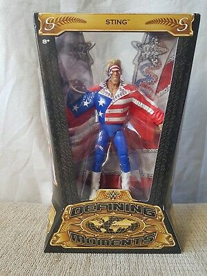 "WWE Mattel ELITE SERIES DEFINING MOMENTS STING 7"" Wrestling Figure NXT New boxed"