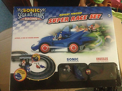 Sonic V's  Knuckles  Sega All-Stars Racing Super Race Set Free Postage