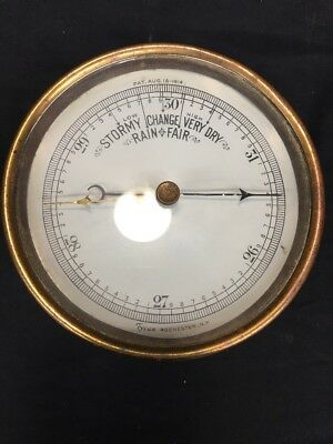 Tycos Antique Tycos Weather Wall Barometer Rochester N.Y. (mm1338)