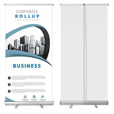 """Retractable Banner Stand 33"""" x 79"""" Roll Up Stand Portable for Trade Show Sign"""