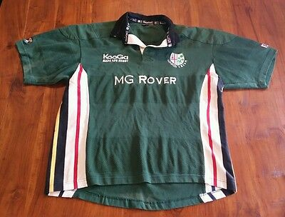 London Irish English Rugby Union Club Jersey Green preowned Free postage D4