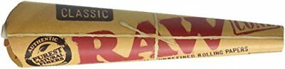 72 RAW Classic Rolling Paper Cones Natural Hemp - 12 packs of 6 cones by Raw New
