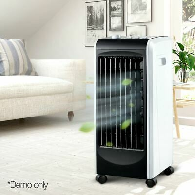 Evaporative Air Cooler Humidifier Conditioner Cool Breeze Indoor Cooling Black