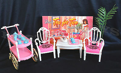 Gloria Furniture Size Tea For Two W/chairs Playset For Barbie Doll House