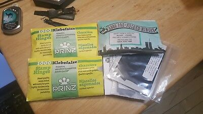 Three UNOPENED PACK OF PRINZ STAMP HINGES 1000 FOLDED LOWEST PRICES ON EBAY*