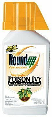Roundup Poison Ivy Plus Tough Brush Killer Concentrate, 32-Ounce 5002310 New