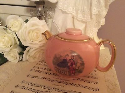 Fabulous Vintage Pink Teapot W S George Ohio Southern Belles Nice Collectible