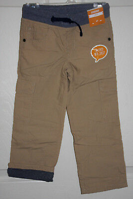 NWT Gymboree Boys Pull on Cargo Pants Jersey Lined Khakis Color Size 4
