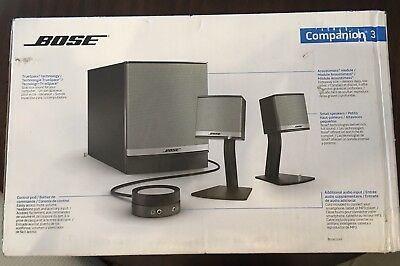 Bose Companion 3 Series II Computer Multimedia Speaker System - New in box.