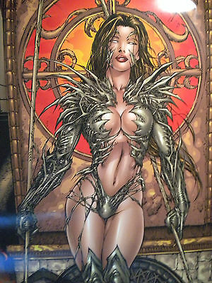 "WITCHBLADE Top Cow Image Comics #40 Artwork of KEU CHA POSTER 24 x 36"" NEW Sexy"